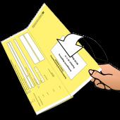 Falzen von bedruckten Urkunden auf Einsteckformat