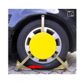 Linker Greifarm mit Reifenkeil