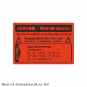 Eindruck in Warnplaketten auf SK-Folie