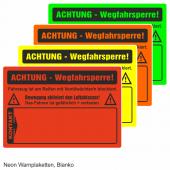 Warnplaketten Ventilwächter, Neon Folie