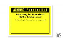 Falschparker-Warnplaketten Parkkralle, SK-Folie