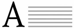 Eindruck einfarbig schwarz auf Mitteilungsbriefhüllen